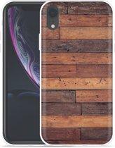 Apple iPhone Xr Hoesje Houten planken