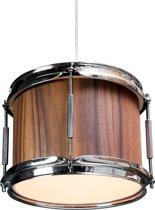 Berben Design Houten Drum Hanglamp - Walnoot
