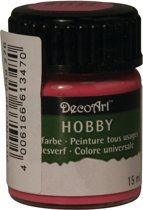 Hobby acrylverf fuchsia roze 15 ml