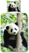 Good Morning 4334-P Panda - kinderdekbedovertrek - 140x200/220 cm  - 100% katoen - multi