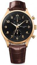William L. 1985 WLOJ02NROJCM horloge heren - bruin - edelstaal doubl�