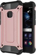 Tuff-luv - Tough armour case voor de Huawei P10 lite - roze goud