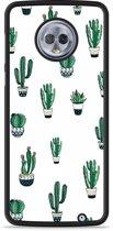 Moto G6 Plus Hardcase Hoesje Cactus