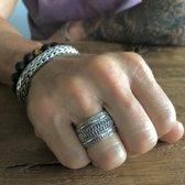 Zilveren Bali style ring 'KUTA'