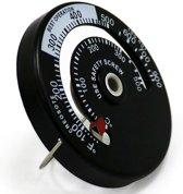 Kachelpijp thermometer - magnetisch - kachelthermometer / rookpijp thermometer