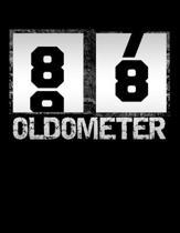 Oldometer 88: Oldometer 87-88 .88th Birthday Funny Gift