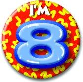 Button 8 jaar (55 mm)