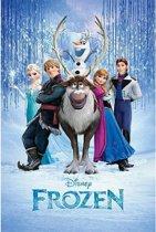 Poster Frozen  cast 61 x 91,5 cm