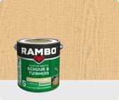 Rambo Schuur & Tuinhuis pantserbeits zijdeglans transparant kleurloos 0000 2,5 l