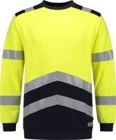 Tricorp - 303002 Sweater Multinorm Bicolor | High Vis. Werktrui met Ronde Hals