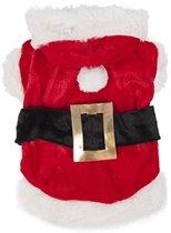 Hondentrui kerstman kostuum 20cm voor kerst