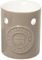 Scentchips brander met logo design grijs - taupe