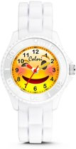 Colori Happy Smile 5 CLK075 Kinderhorloge met Wink Emoticon - Siliconen Band - Ø 30 mm - Wit