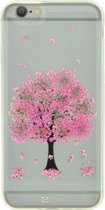 4-OK iPhone 6 / 6S Flower Cover Pink Tree