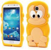 Monkey Silicone hoesje Samsung Galaxy S4 i9500 i9505 geel