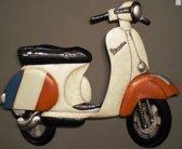 Wanddeco metaal Vespa scooter