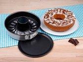 2-Delige Springvorm Set - Anti Aanbak Tulband Taartvorm / Cakevorm - Bakvorm Tulbandvorm