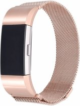 Fitbit Charge 2 Milanese Horloge Bandje met magneetsluiting - Maat M - Rose Goud