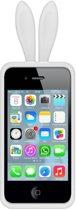 Telefoon Hoesje Konijnen Oortjes - iPhone 4/4S - Wit