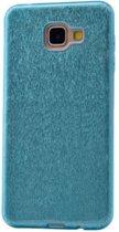 Teleplus Samsung Galaxy A810 2016 Glitter Custom Made Silicone Case Blue hoesje