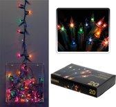 Kerstverlichting mini gekleurd binnen 20 lampjes