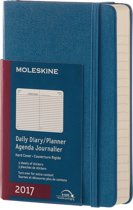 Moleskine Agenda 2017 12 Months Planner Daily Pocket Steel Blue Hard Cover