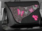 """Smortop - Flap voor laptop tas - 10"""" - Zwarte vlinder"""