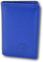 LeonDesign - 16-CC1502-19 - mapje voor pasjes - koninklijk Blauw - leer