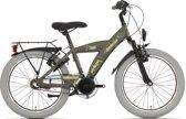 Kinderfiets Bike Fun Camouflage jongens 20 inch nexus 3 matt kaki