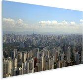 Stadsgezicht van de grootste stad van Brazilië in São Paulo Plexiglas 180x120 cm - Foto print op Glas (Plexiglas wanddecoratie) XXL / Groot formaat!