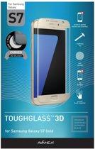 AVANCA Gebogen Beschermglas Samsung Galaxy S7 Goud - Screen Protector - Tempered Glass - Gehard Glas - Curved Glass - Protectie glas