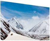Toppen Himalaya in winter Tuinposter 200x100 cm - Tuindoek / Buitencanvas / Schilderijen voor buiten (tuin decoratie) XXL / Groot formaat!