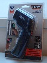 Ferm Professionele Infrarood Thermometer - Warmtemeter -  Draadloze Temperatuurmeter - vanaf -40 tot 530 graden Celsius - Werkt op Batterij - Draadloos - Snoerloos - Pyrometer - Infra rood -Laser