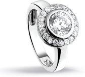 Silventi 943282357 50 Zilveren ring - Rond zirkonia - Zilverkleurig