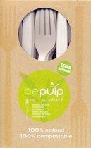 bepulp vork - 100% composteerbaar - 50 stuks
