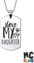 Ketting RVS - I Love My Daughter