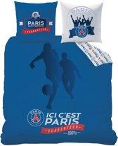 Paris Saint Germain Foot - Dekbedovertrek - Lits Jumeaux - 240 x 220 cm - Blauw