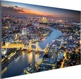 De skyline van London Aluminium 90x60 cm - Foto print op Aluminium (metaal wanddecoratie)