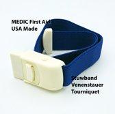MEDIC First Aid Stuwband | Blauw | Tourniquet | USA Made | EHBO | First Aid Kit |Stuwband voor artsenpraktijken en ziekenhuizen | Blauwe stuwband voor bloedafname
