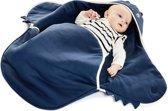 Wallaboo Babydeken Coco - Handige wikkeldeken en wrapper - 100% zacht katoen - pasgeboren tot 9 maanden - Geschikt voor autostoel, kinderwagen, box, ledikant - 70 * 90 cm - Kleur: Blauw Draakje