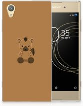 Sony Xperia XA1 Plus Uniek TPU Hoesje Baby Hyena