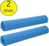 Antislipmat 2 stuks – 30x150cm – Anti Slip Onderkleed op Rol – Blauw