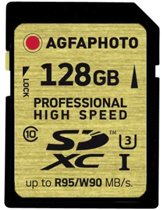AgfaPhoto SDXC kaart UHS I 128GB Professional High Speed U3 95/90