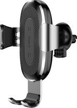 Baseus Draadloze Qi Auto oplader voor in het ventilatie rooster - Geschikt voor toestellen met draadloos laden