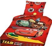 Disney Cars - Dekbedovertrek - Eenpersoons - 160x210 cm - Rood
