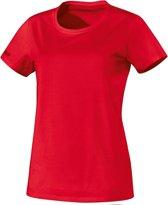 Jako - T-Shirt Team Dames - rood - Maat 36