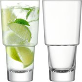 LSA International Mixologist Cocktail Longdrinkglas - 400 ml - Set van 2 Stuks