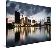Weerspiegeling van de stadsarchitectuur van Toledo in de VS Canvas 120x80 cm - Foto print op Canvas schilderij (Wanddecoratie woonkamer / slaapkamer)