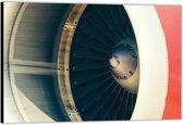 Dibond –Moter van een Vliegtuig– 200x100 Foto op Aluminium (Wanddecoratie van metaal)