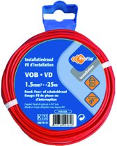 PROFILE installatiedraad VOB (België) VD (Nederland) - 1,5mm² - rood - 25 meter